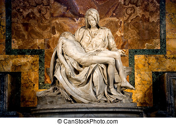 Michelangelos Pieta in St Peters Basilica in Rome