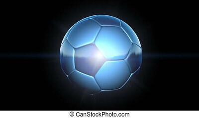 Football Background - A Soccer ball animation, ideal for a...
