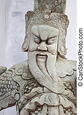 Chinese giant statue - Giant statue of a Chinese temple in...