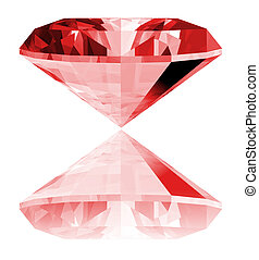 3d Ruby Gem Isolated - A 3d illustration of a ruby gem...