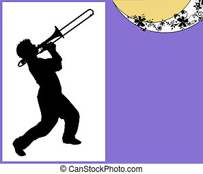 Trombonist contour - Music concept