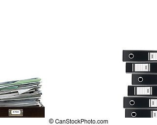 Office Desk - Office desk items isolated against a white...