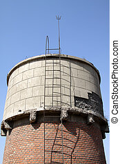 red brick storage water tower