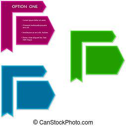 arrow labels - three colors