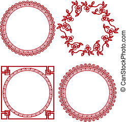 chinese ornamental frames