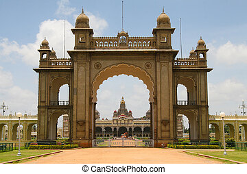 Palace of Mysore in India - Palace of Mysore in India. This...