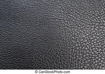 negro, Textured, cuero, textil, Costura, primer plano