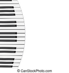 music background with piano keys vector illustration