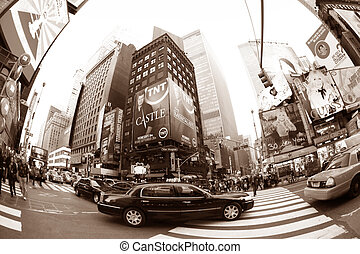 Times Square. New York City - NEW YORK CITY - OCT 10: Times...