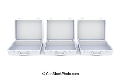 SuitcasesIsolated on white background3d rendered