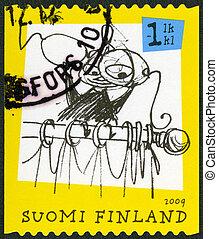 FINLAND - 2009: shows Moomin characters - FINLAND - CIRCA...