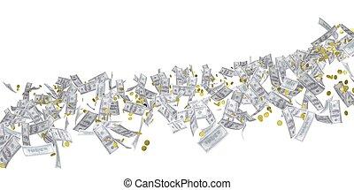 Flow of money. Dollar