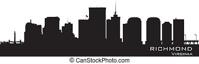 Richmond, Virginia skyline Detailed city silhouette Vector...