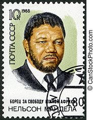 URSS, -, 1988:, mostra, Nelson, Rolihlahla, Mandela, (b,...