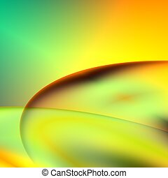 Orange and green abstract futuristic background. For...