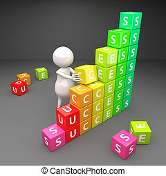 3D People Success with Cubes