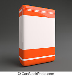 Product Software Box Orange White