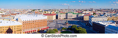 Top view of Saint Petersburg - Top view of Saint Petersburg...