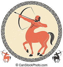 Sagittarius - Centaur shooting an arrow. Two additional...