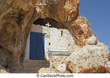 Cave church, Protaras, Cyprus - Old cave church, located in...