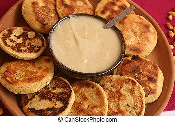 Ecuadorian Pancakes - Ecuadorian pancakes made with corn...
