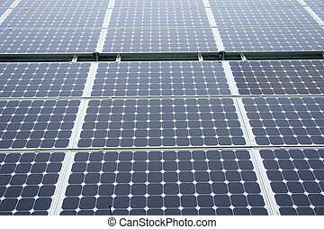 Solarcell - Solar-cells on a roof outside on a day