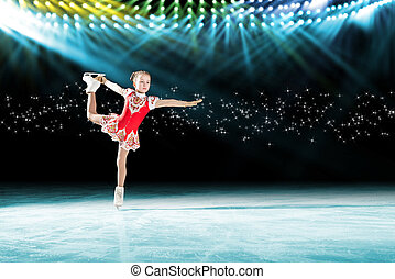 performance of young skaters, ice show - young skater...