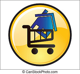 Buy House Button shopping trolley