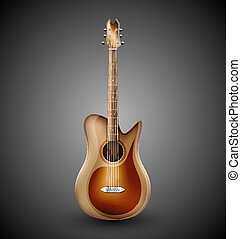 Isolated acoustic guitar. Eps 10