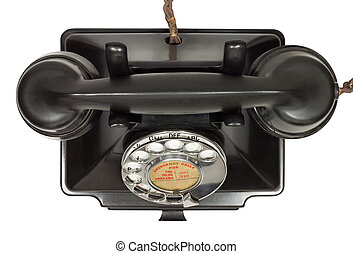 Old Telephone - Old bakelite telephone. GPO 200 Series. 232...