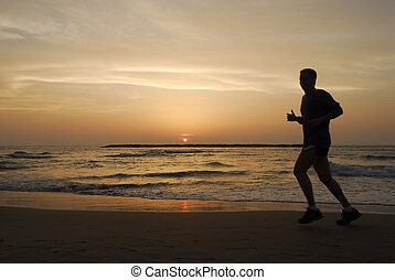 Beach - A run on the Tel Aviv beach