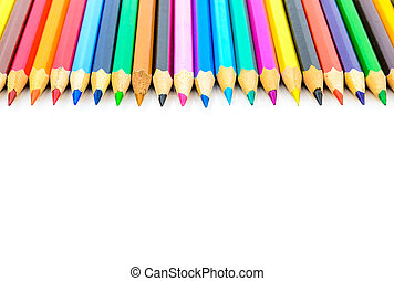 Colored pencils The photo on the white background