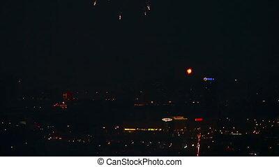 Festive fireworks.