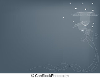 Illustration of Delicate Flowers on Gray Background