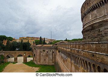 Castel Sant Angelo - famous old mausoleum Castel Sant Angelo...