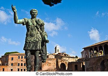 Gaius Augustus - statue of the roman emperor Gaius Augustus
