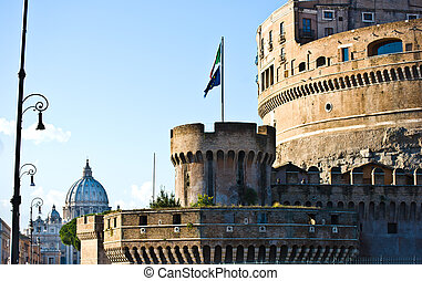 Castel Sant Angelo - view of Castel Sant Angelo and San...
