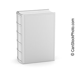 Book with empty cover on white