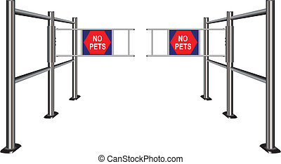 Turnstile prohibiting pets - Prohibiting passage turnstile...