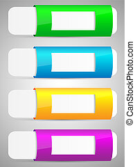 Set of colorful options banner template Vector illustration...