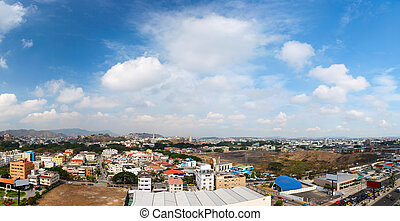 Guayaquil city panorama - Panoramic photo of Guayaquil city...