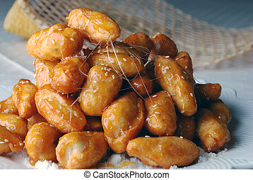 candied chinese yam - food in china--candied chinese yam.