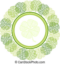 Background with abstract clover leaves.