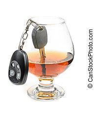 vidrio, Alcohol, coche, llaves