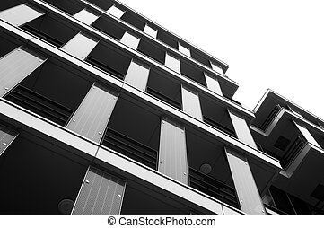 modern architecture - Abstract black and white infrared...