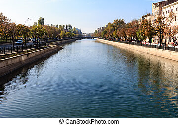 Bucharest Dambovita riverside - Bucharests river Dambovita...
