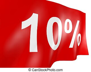 10 percent off red flag