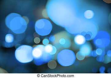 Blue blur - Abstract background of blue blurred street...