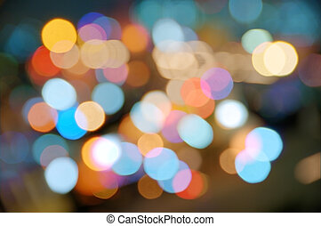 Color blurs - Abstract background of colorful blurred street...