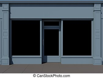Shop front - Classic shopfront with large windows